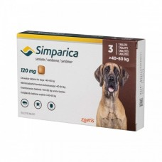 Simparica Caini 120 mg (40 - 60 kg), 1 tableta