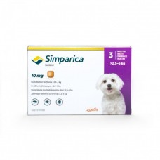 Simparica Caini 10 mg (2.5 - 5 kg), 1 tableta