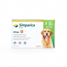 Simparica Caini 80 mg (20 - 40 kg), 1 tableta